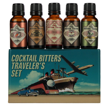 The Bitter Truth Cocktail Bitters Traveler Set Gift Tin